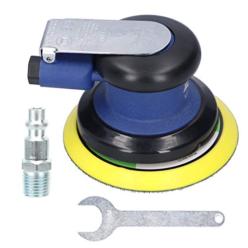 Depiladora/pulidora, 1 llave inglesa, pulidor de coche enceradora, doble acción, máquina de lijado neumática, para quitar arañazos de coche, (americano)