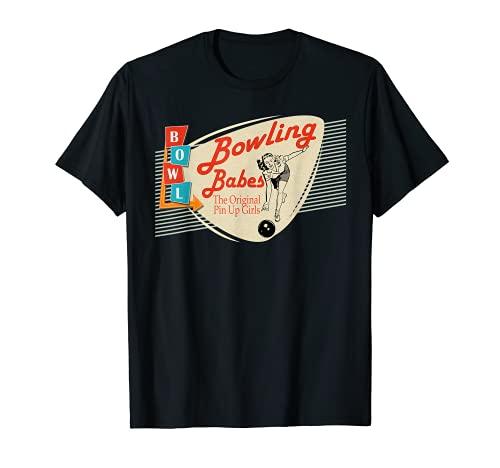 Bowling Babes camiseta retro a juego de bolos Camiseta