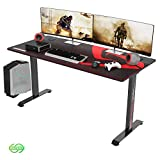 DESIGNA Gaming Desk Large 60 Inch, T-Shaped Home Office PC Computer Desk
