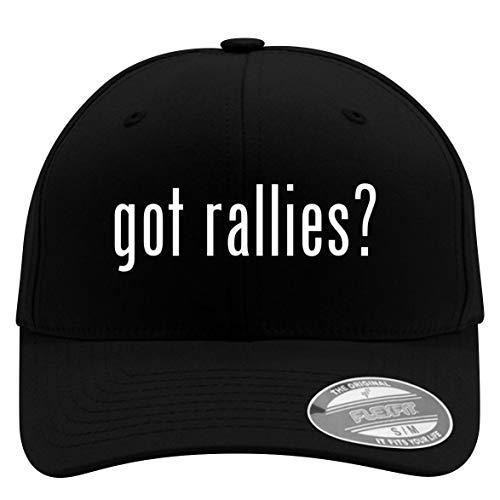 got Rallies? - Flexfit Adult Men's Baseball Cap Hat, Black, Large/X-Large
