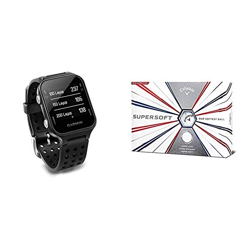 Garmin Approach S20, GPS Golf Watch with Step Tracking, Preloaded...