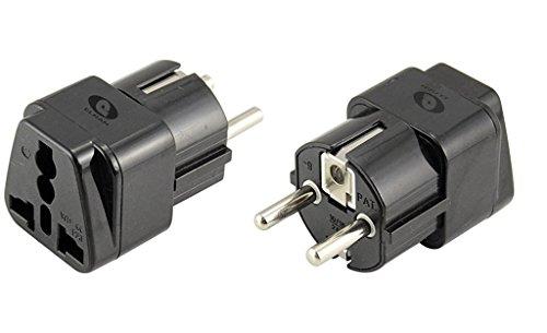 ELRAN Adaptador universal para toma eléctrica, permite conectar cualquier dispositivo en Francia,...