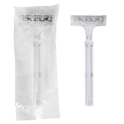 Garcia de Pou 100 unité Double Lame Rasoir emballées Individuellement dans Une boîte, 10 cm, polyéthylène Basse densité, 43 x 4.5 x 30 cm
