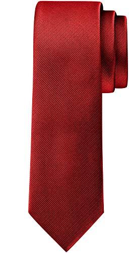 BomGuard 6cm herren-krawatte matt rot schmale weihnachten seide damen männer frauen
