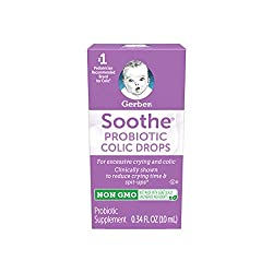 Gerber Soothe Baby Everyday Probiotic Drops for Newborn, Infants, Baby, & Toddlers, Colic, Spit-Up,