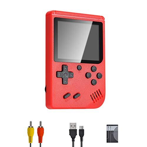 PASASABLE Mini Console di Gioco Portatile, Console di Gioco nostalgica Classica, Supporto Uscita Video TV, Adatta per Bambini Adulti (Rosso)