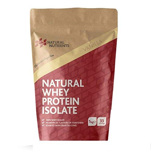 Natural Nutrients Protein Powder Nutritional Fitness Supplement - Natural Whey Protein Isolate - Vanilla Flavour - 1KG pack
