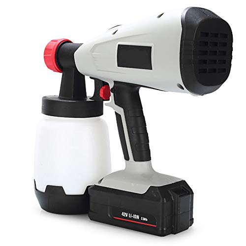 Verfspuit, Hand-Held 400W Electric Spray Gun met 3 Spray patronen voor Outdoor, High-Altitude Spuiten, Wall, Familie Vangrail en Floor