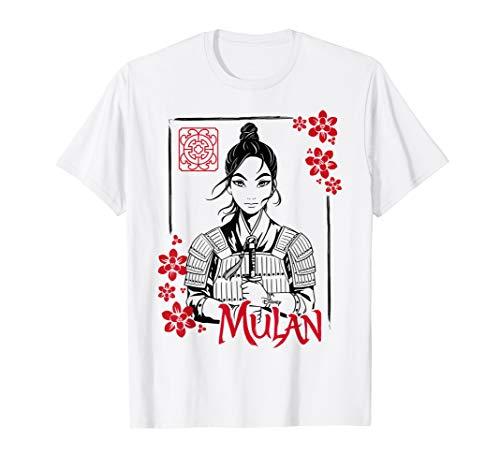 Disney Mulan Live Action Mulan Floral Ink Portrait T-Shirt