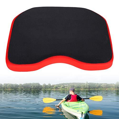Kayak Seat Cushion, Comfort Kayak Seat Cushion Pad, Waterproof Fishing Seat Pad with Sucker, for Kayak Canoe Fishing Boat, Outdoor Camping(Black)