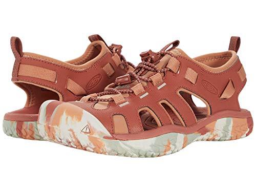 KEEN Women's SOLR High Performance Sport Closed-Toe Water Sandal Shoe, Redwood/Pheasant, 5.5 M (Medium) US