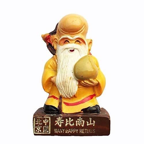 De levensduur god van China 3D Koelkast Magneet Souvenir Gift, Huis & Keuken Decoratie Magnetische Sticker Beijing China Koelkast Magneet