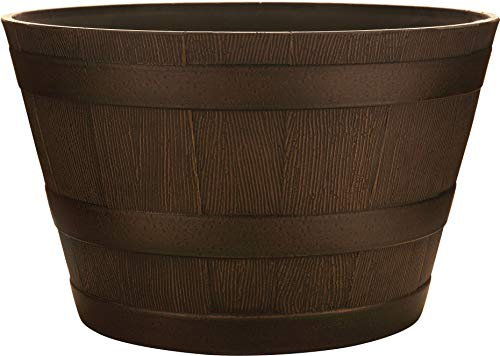 Southern Patio HDR Whiskey Barrel Planter