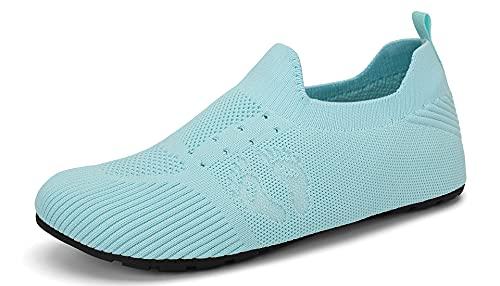 SAGUARO Zapatillas de Estar por Casa Mujer Hombre Ligeras Pantunflas Comodas Zapatos de Casa con Suela Antideslizante, Cielo Azul 40/41 EU