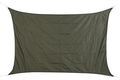 HESPERIDE Tenda da Sole Rettangolare 2x3 m in Tessuto Impermeabile - Colore: Grigio