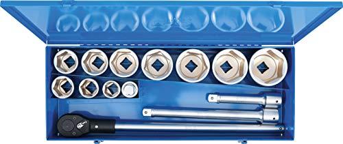 "BGS 1210   Steckschlüssel-Satz   15-tlg.   Antrieb 25 mm (1"")   inkl. Metall-Koffer"