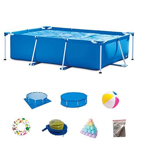 DEAR-JY Piscinas Desmontables,300x200x75CM,Protección del Medio Ambiente PVC,Piscina con Marco Rectangular Azul,Piscina Infantil Infantil Interior y Exterior para Adultos de Gran Capacidad