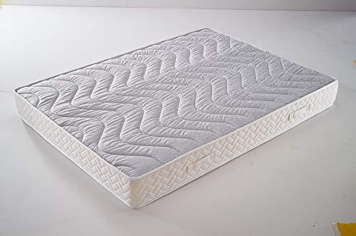 Nuits D'or Memory Foam Mattress 60 kg/m3 20 cm Firm – 5 Comfort Zones – Aertech+ Core 35 kg/m3 High Density – Hypoallergenic, Fabric, 2x80x200