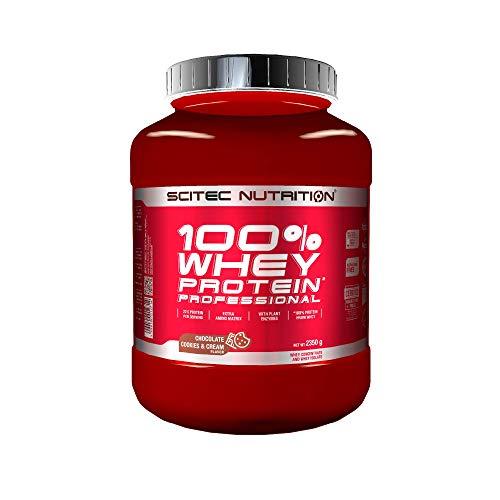 Scitec Nutrition 100% Whey Protein Professional con aminoácidos clave y enzimas digestivas adicionales, 2.35 kg, Chocolate-Cookies & Cream 🔥