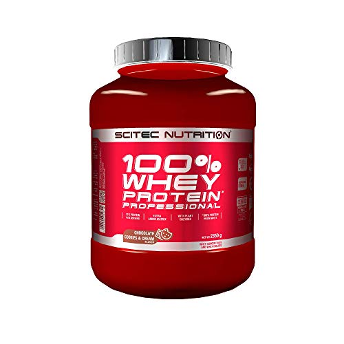 Scitec Nutrition 100% Whey Protein Professional con aminoácidos clave y enzimas digestivas adicionales, 2.35 kg, Chocolate-Cookies & Cream
