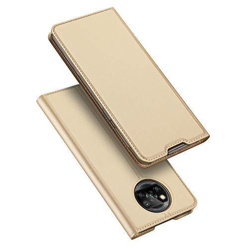 SHIEID para Xiaomi Poco X3 NFC Funda [Cierre Magnético] Carcasa de Cuero PU Cartera Billetera [Soporte]+[Tarjetas Ranuras] Funda para Xiaomi Poco X3 NFC, Oro