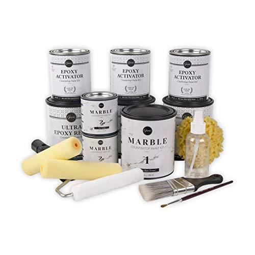 Product Image of the Giani Carrara White Marble Epoxy Countertop Kit