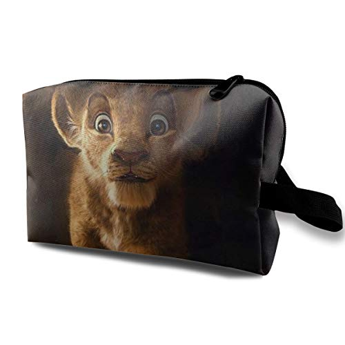 Lion KingTravel Trousse à cosmétiques, impression de beauté, sac de voyage, organiseur de maquillage, trousse de toilette, organisateur de maquillage, sac à main avec poignée étanche