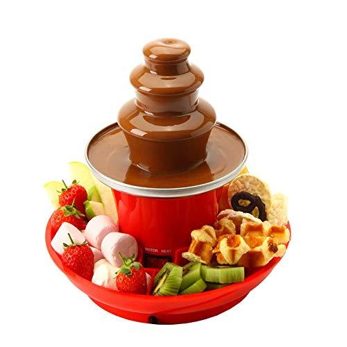 JXSD Fuente de Chocolate de 3 Niveles, con Bandeja para Frutas, función Keep Warm, para Uso Comercial, hogar, Boda, cumpleaños, Navidad