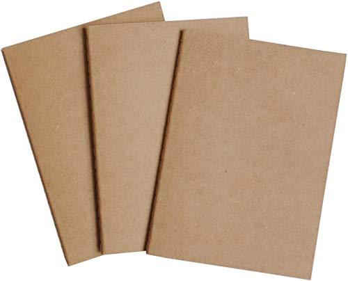 Wanderings A6 Blanco Travellers Journal-bijlagen - Notebook Navulling voor A6 Reizen Logboek Stel van 3 x 30 dubbelzijdige pagina's Blanco navulhoezen voor Leather Planner, Dagboek, Navulling 10,5x15cm (A6)