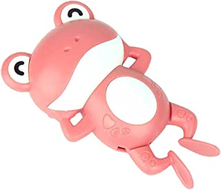 Generic Clockwork Floating Bath Toys Funny Wind Up Swimming Frog Water Toy for Kids Boys Girls - Pink