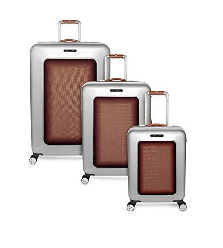 Ted Baker Men's Hardside Spinner Luggage Herringbone Collection (Bronze Herringbone, 3-pc Set (22'/28'/38'))