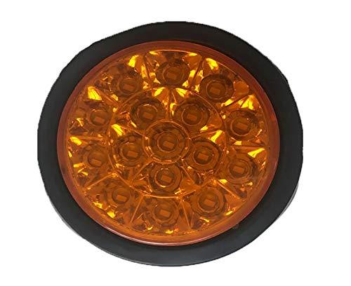 Awsgtdrtg Feux Arrières De Frein Arrière Marqueur De Lumière Indicateur De Voiture Remorque Camion Réflecteur Rond Rouge Jaune Blanc 1 Pcs 24V,Yellow