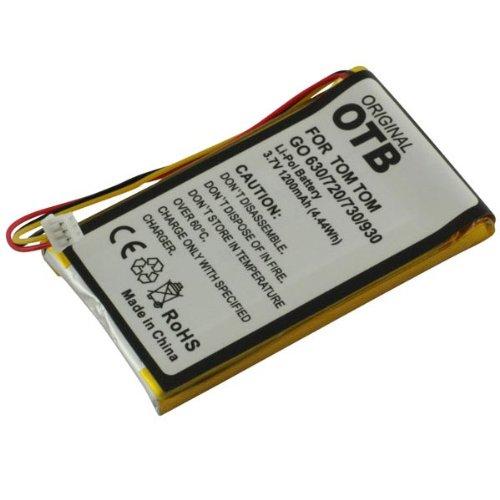 Akku, Ersatzakku mit 1200mAh !!! für TomTom GO 720 Live / 630 / 720 / 730 / 730T / 930 / 930T ohne Memory-Effekt Li-Polymer PDA-Punkt