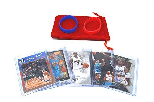Chris Paul Basketball Cards Assorted (5) Bundle - Oklahoma City Thunder Trading Cards