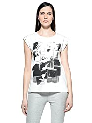 TAKE TWO t-sport donna mod ALLI bianco t-shirt donna bianco mod ALLI
