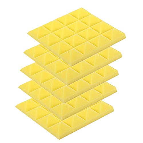 Read About LIUguoo 5Pcs Acoustic Foam DIY Panel Sound Stop Absorption Sponge Studio KTV Soundproof W...
