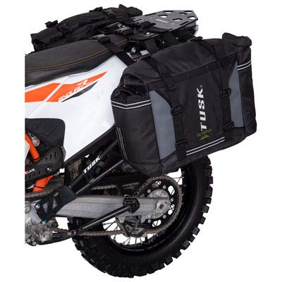 Tusk OLYMPUS Dual Sport Adventure Motorcycle Pannier Bags - Includes neck gaiter (For Universal Rack Mount)