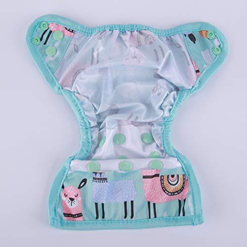 Sigzagor Newborn Baby Diaper Nappy Cover 8lbs-10lbs (Blue Alpaca)