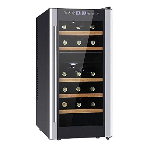 CHENMAO Smart Touch Screen wine Cooler, Digital Temperature Beer Soda Counter Top Bar Office Quiet Operation Compressor
