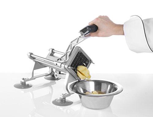 HENDI Pommesschneider, Inkl. 4 Scheiben: 6, 9 und 13mm und ein Messer für 8 Teile, 430x168x(H)290mm, Aluminium, Edelstahl