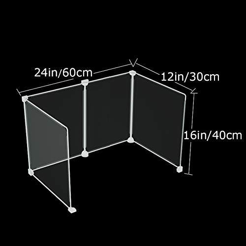 RXY- PARTITIONS Student Desk Partition Baffle Partition Board Multifunctional Anti-Spray Transparent Dining Table Three-Sided U-Shaped Protective Plate (Size : 24x16x12)