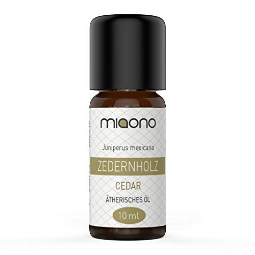 Zedernholzöl - 100% naturreines, ätherisches Öl (10ml) von miaono (Glasflasche)