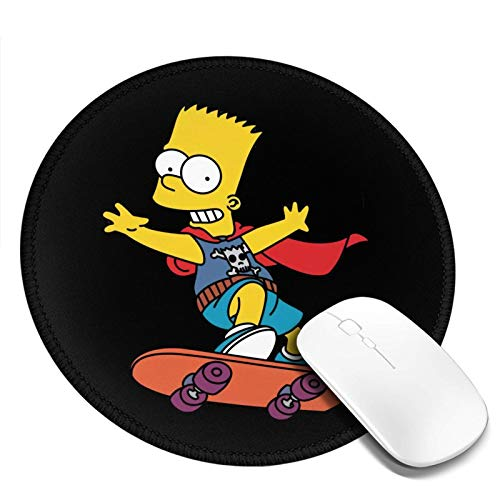 Bart Simpson Mousepad Non-Slip Mouse Pads for Computers Laptop Office Hemmed Mouse Pad 7.9x7.9 in