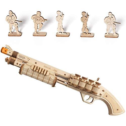 GWHW Kits de modelo de pistola de goma de madera, rompecabezas de madera 3D, kits de construcción para adolescentes y adultos