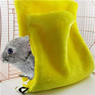 DORLIONA Petforu Small Pets Double-Layer Hammock Parrot Squirrel Chinchilla Sleeping Bag