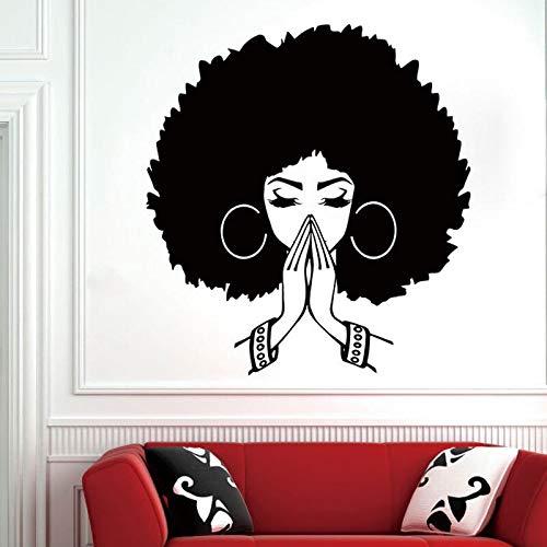 wopiaol Hermosas Pegatinas de Pared africanas para Mujeres, Pegatinas de Pared de niña Africana, Citas, Belleza, calcomanía de Pared de Vinilo para Sala de Estar