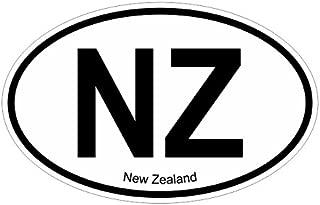 New Zealand NZ oval Vinyl Decal Sticker