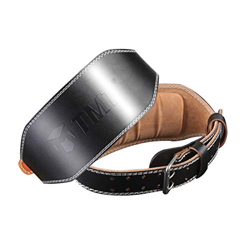 ShanTu Genuine Leather Weight Lifting Belt for Men Lumbar Back Support Gym Powerlifting Weightlifting Heavy Duty Workout Training Exercise and Fitness Belt