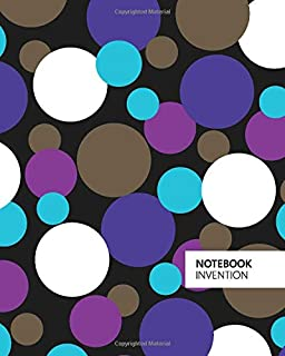 Invention Notebook: (Dark Edition) Fun Christmas notebook 192 ruled/lined pages (8x10 inches / 20.3x25.4 cm / Large Jotter)