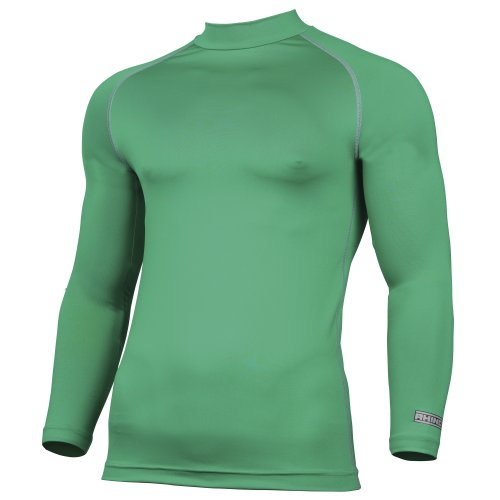 Rhino Herren Thermo-Unterhemd, langärmlig (XS) (Grün)